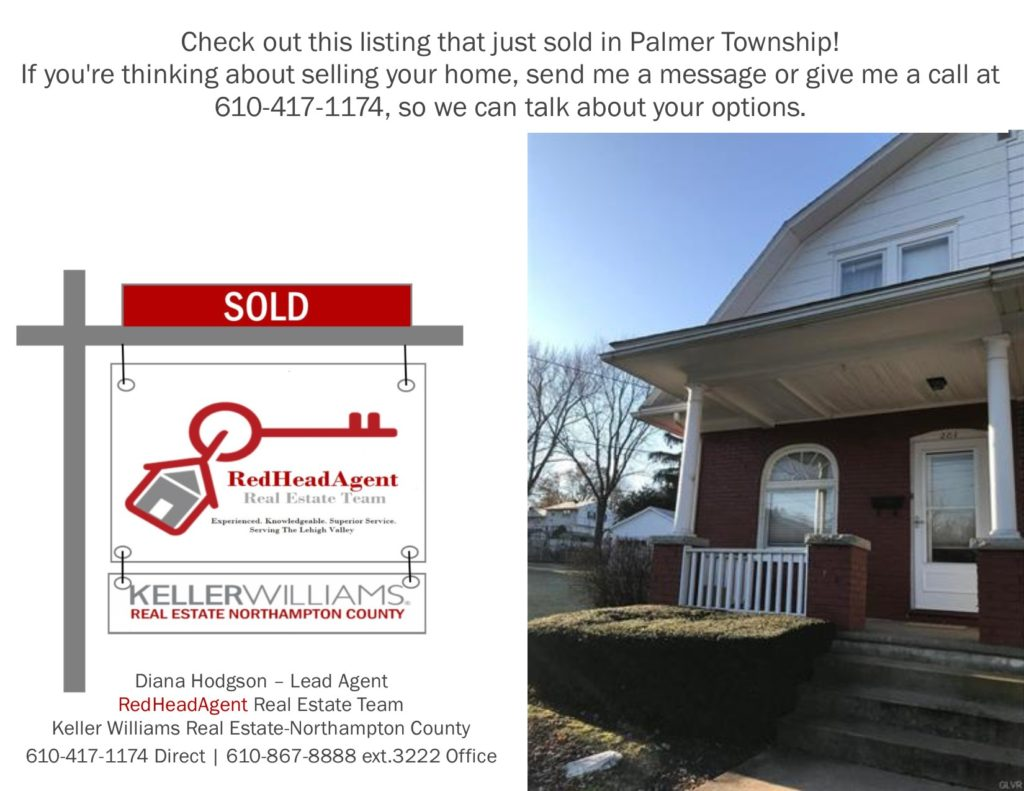 RedHeadAgent Real Estate Team Just Sold Palmer Township